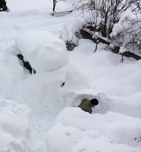 積雪、一メートル超え!