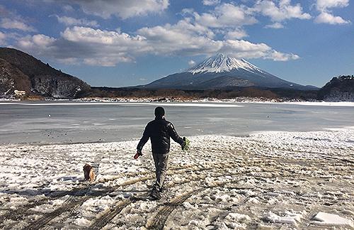 2018年2月4日、精進湖、全面凍結!