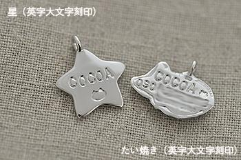 ココアちゃん♪星&たい焼き迷子札